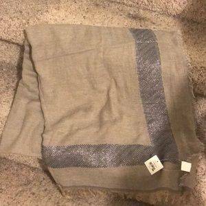 Paper source tan gray scarf NWT